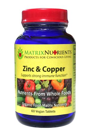 Matrix Nutrients Organic Zinc & Copper